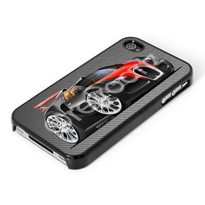 RetroArtz Bugatti Veyron Supercar Black/Red iPhone 4/4S & 5/5S Case/Cover