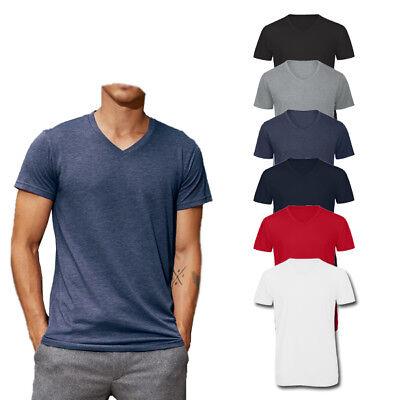 Blend V-neck T-shirt (B&C Triblend V-Neck T-Shirt Men - Herren Kurzarm V-Ausschnitt T-Shirt )