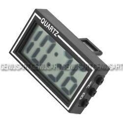 Digital LCD Car Dashboard Desk Date Time Calendar Clock with Double-sided tape