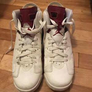 Maroon Jordans 6
