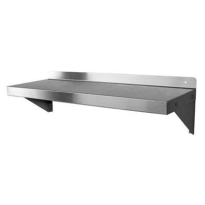 Ace Ws-w1224 12 X 24 18 Gauge Stainless Steel Wall Mount Shelf Nsf Approved