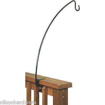 "6-Deck .5 Dia X 33"" High Green Steel Bird Feeder Basket Clamp Hook Holder 38015"