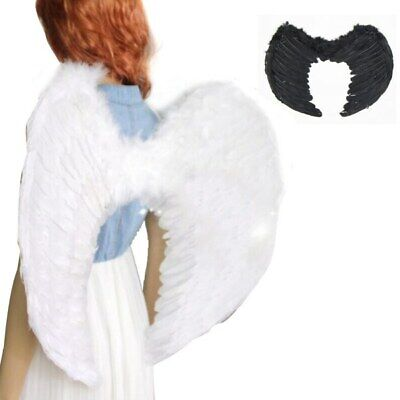Angel Wings Fancy Xmas Dress up Fairy Feather Costume Outfit Large Adult Party](Large Adult Fairy Wings)