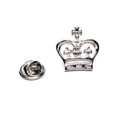 silberfarbig detailliert Krone Metall Anstecknadel Royalty Monarch King ajtp458