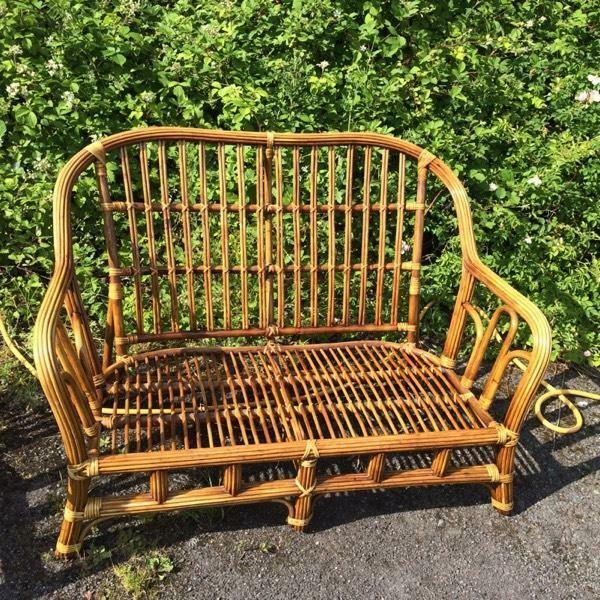 Cane two seater and chair in bedworth warwickshire