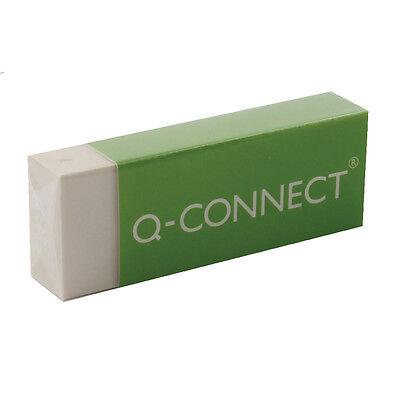 BOX OF 20 LARGE PLASTIC ERASERS 45x28x8mm BULK BUY GREAT PRICE