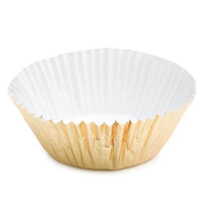 Gold Foil Mini Cupcake Liners - 100 Count - Maximum baking temperature 325 - Gold Mini Cupcake Liners