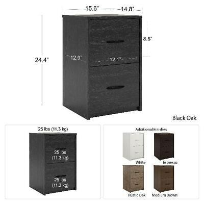 Ameriwood 2 Drawer File Cabinet Wood Storage Furniture Office Documents Colors