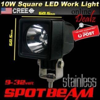 10W LED SPOT BEAM CREE WORK LIGHT 4X4 BACKUP REVERSE 4WD 9-32V 12