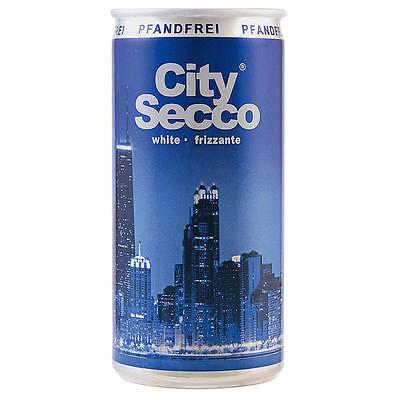 60 Dosen City City Secco Perlwein 10.5% Vol. 60 x 200ml Sektempfang