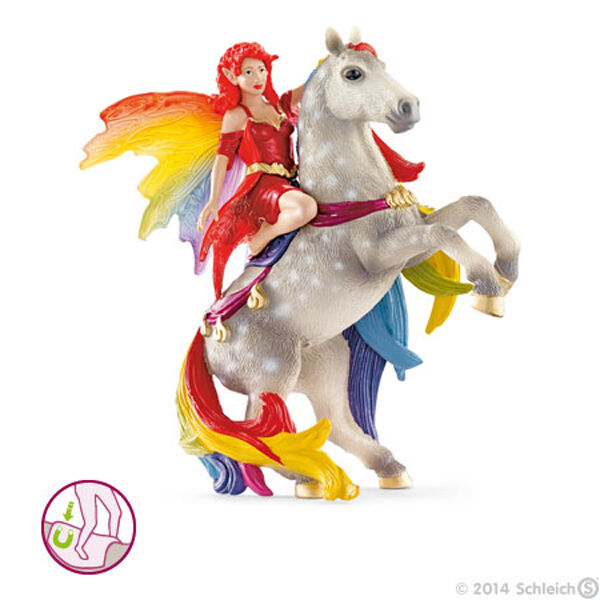 NEW SCHLEICH 70483 Amisi mounted on Horse - Bayala Elf Fairy Elven Character