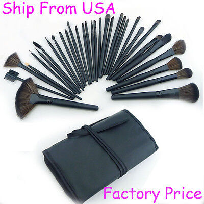Factory Price  New Pro 32 PCs Makeup Brush Set Kit Mkaeup Tools  With Case  on Rummage