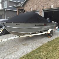 16 Aluminum deep hull fishing boat