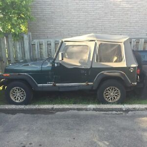 Jeep YJ 1994 2.5 litres 4x4 high low (514) 775-8293 has to go