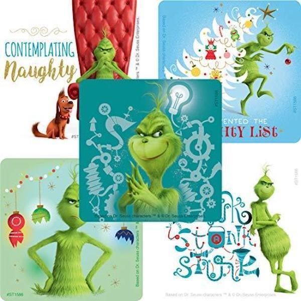 25 The Grinch Movie Stickers Party Favors Teacher Supply Chr