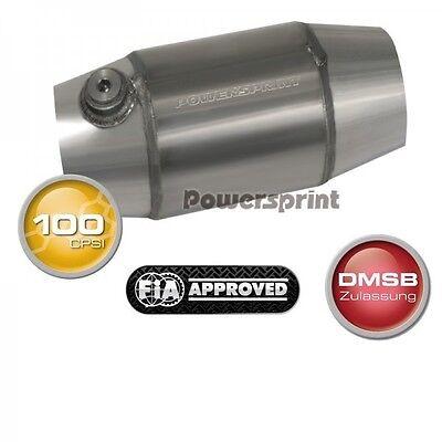 Edelstahl Auspuff UHF Race Kat 100  Durchmesser 63,5mm