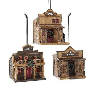 Western Buildings Ornaments](Western Christmas Ornaments)