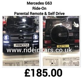 MERCEDES G63 AMG (Electric), G-Wagon, Black, Self Drive & Parental Remote Ride-On