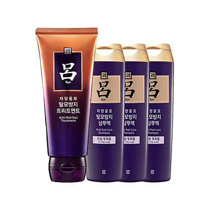 [Ryo Ryoe] Anti-Hair Loss Shampoo 180mlX3+ Anti-Hair Loss Treatment 200mlX1 set