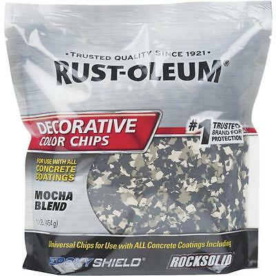 6 Pk Rust-oleum Mocha 1 Color Chip Concrete Garage Floor Coating 301238