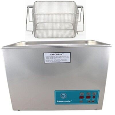 Crest P1800d-132 Ultrasonic Cleaner With Power Control-mesh Basket