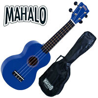 Mahalo Blue Ukulele Rainbow Series NEW WITH GIG BAG