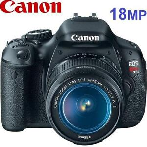 USED CANON REBEL T3i CAMERA KIT EOS REBEL T3i - 18-55MM IS LENS - 18MP - DIGITAL PHOTOGRAPHY 100473360