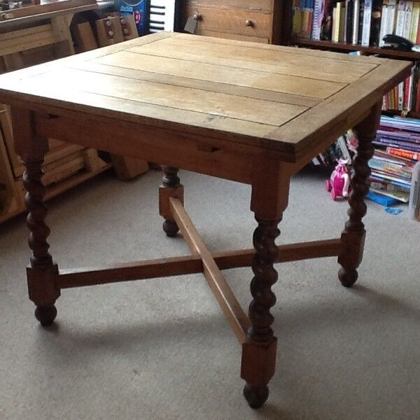 Oak Extending Kitchen Dining Table