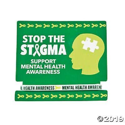 - 12 Mental Health Awareness Sayings Bracelets GREEN RIBBON  Mental Health