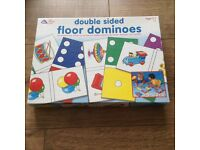 Early learning double sided floor dominoes