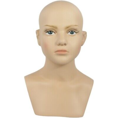 Mn-518 Childbabyboygirl Mannequin Head Form With Realistic Face And Bust