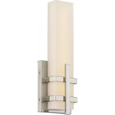 Polished Nickle Nuvo LED Wall Sconce with acrylic -