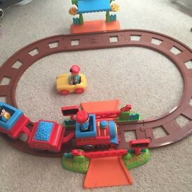 Elc happyland train track and Whizz World Lights and Sounds Mountain Set