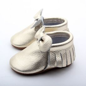 Various Styles of Baby Moccasins for sale