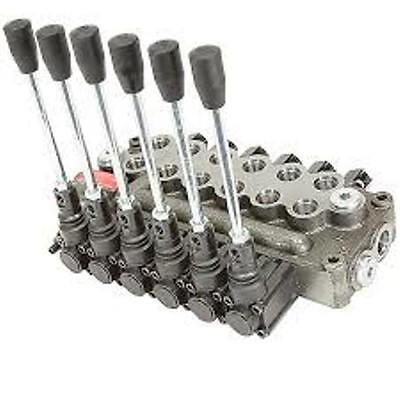 Prince Wolverine 6 Spool Hydraulic Valve Mb61bbbbbb5c1 8 Gpm 3500 Psi Sae Ports