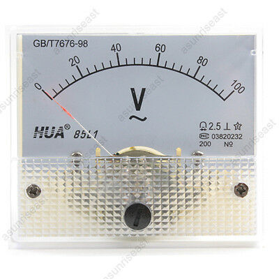 1 Ac100v Analog Panel Volt Voltage Meter Voltmeter Gauge 85l1 Ac0-100v