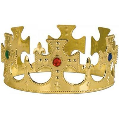 Gold Queen Medieval King Prince Tiara Crown Jewel Royalty Costume Prop](Crown Prop)