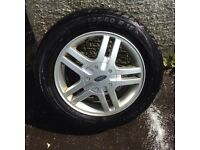 SET OF FOUR, FORD ALLOY WHEELS- GOOD TYRES