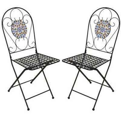 Twin Pack Mosaic Chair Garden Chairs Mosaic Chairs Garden Chair Terrace Chair