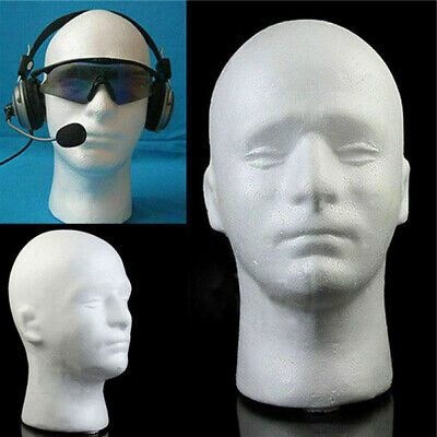 New Male Styrofoam Foam Mannequin Manikin Head Wig Display Hat Glasses Stand Men