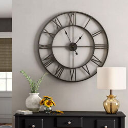 Oversized Oversize Wall Clock Roman Iron Big Clock Wall Art 30 Inch Metal Huge