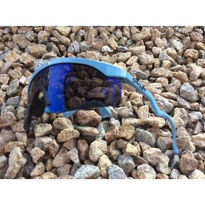 New Oakley Razor Blades Sunglasses Shield Heritage Edition Blue/Ice Iridium