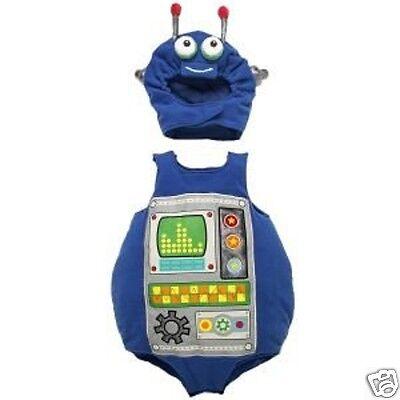 NEW HALLOWEEN ROBOT COSTUME BABY PLUSH BODYSUIT HAT 0-6 months CHILDREN'S PLACE