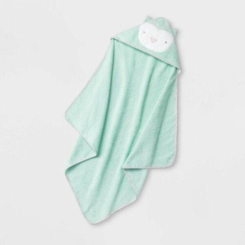 "Cloud Island - Infant Baby Owl Hooded Bath Towel - Joyful Mint - 30"" x 30"""