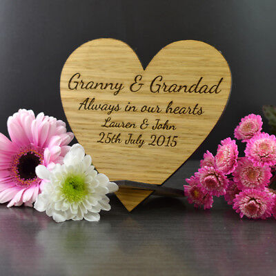 Memorial Table At Wedding (Personalised Wooden Rememberance Memorial Heart Sign Idea for Table at)