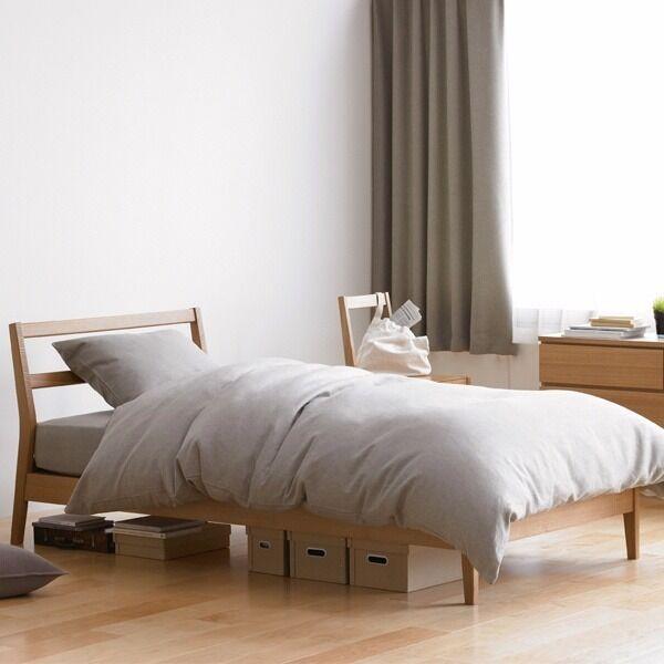 muji ash double bed frame - Muji Bed Frame