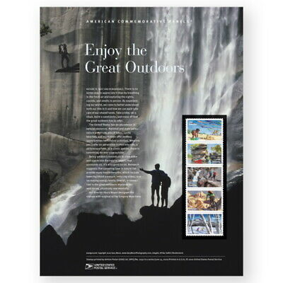 USPS New Enjoy the Great Outdoors American Commemorative Panel