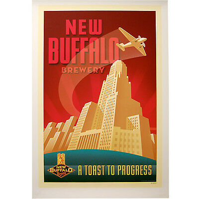New Buffalo Brewing Company Poster - City Hall Craft Brewery Drinking Bar Decor](Party City Buffalo)