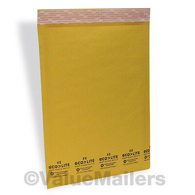 600 2 8.5x12 Usa Ecolite Kraft Bubble Mailers Padded 8.5 X 12 Envelopes 100 .4