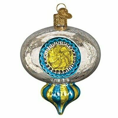 Old World Christmas 51507 Glass Blown Shiny Mercury Reflection Ornament